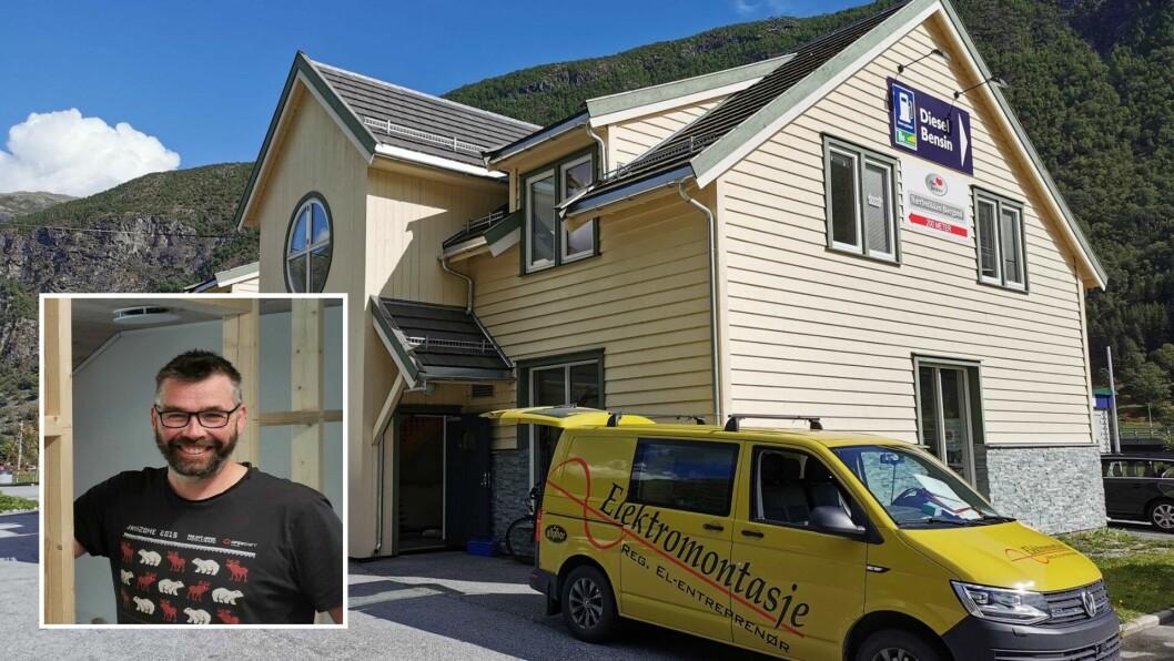 FULLT: Knut Opdal seier dei snart ikkje har plass til fleire kontor i Borgund Servicesenter.
