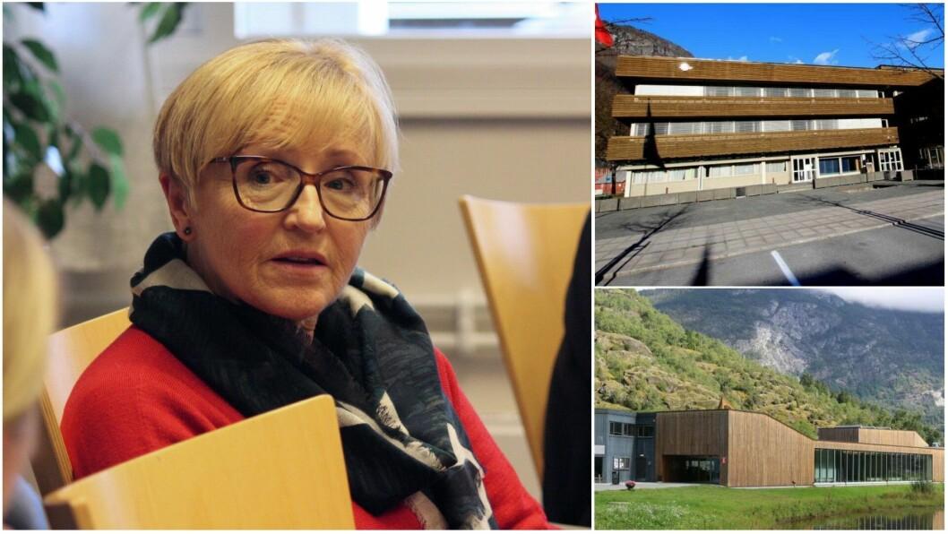 UEINIG: Navarsete er ikkje einig i vedtaket om å flytte folkebiblioteket inn i Lærdal Kulturhus.
