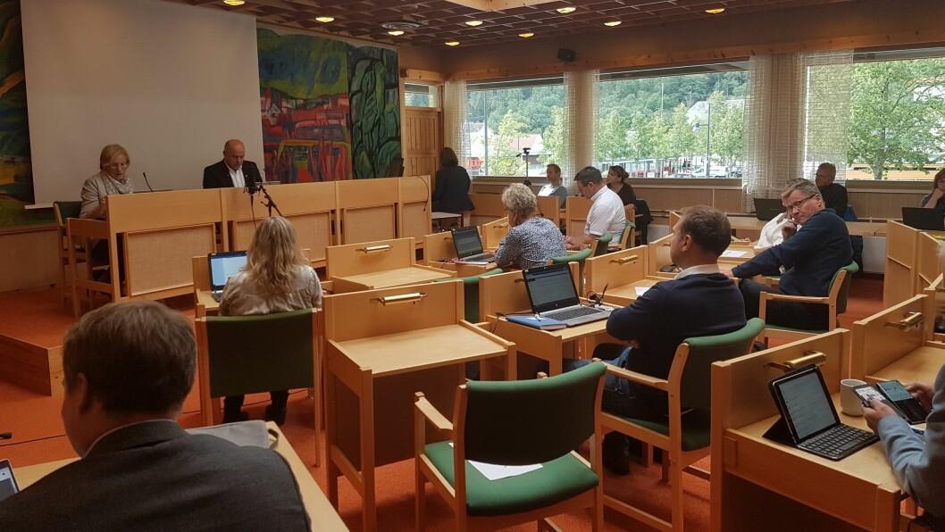 DELTE: Kommunestyret i Lærdal hadde delte meiningar om kvar folkebiblioteket bør ligge.