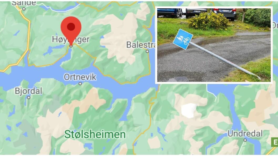 ULYKKE: Ulykka skal ha skjedd i Storgata i Høyanger. (foto: Google maps/Odd Arlid Løseth)