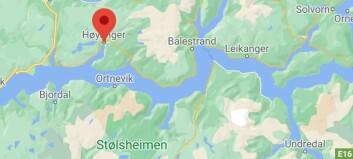 Trafikkulykke i Høyanger - mann sendt til sjukehus