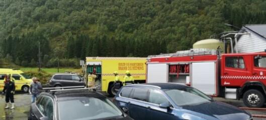 Brann i maskinrom på slakteri i Gulen