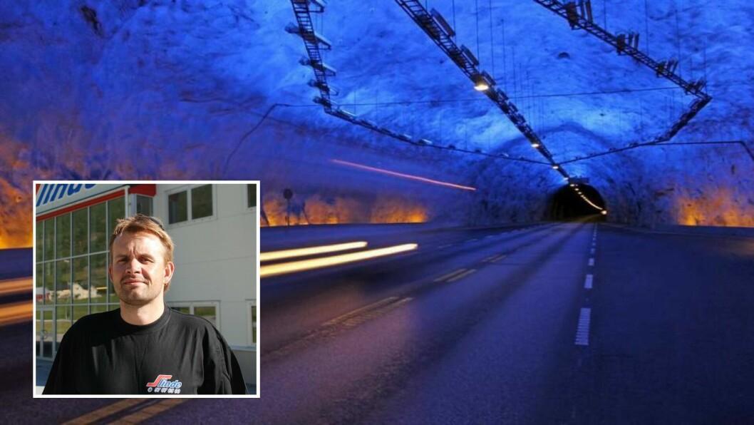 UROA: Arne Slinde Ahlin er uroa for konsekvensane stenging av Lærdalstunnelen kan ha for Slinde Transport.