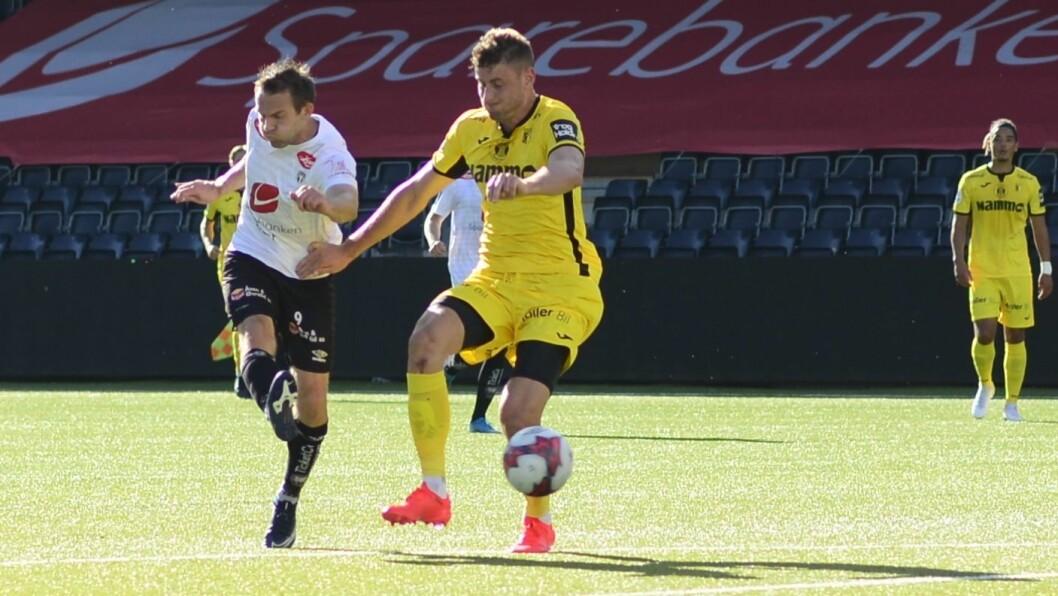 SOGNDAL FOTBALL: Sogndal slo Jerv 3-0 i dag. Endre Kupen skåra sitt første mål på lenge. Biletet er frå ein kamp tidlegare i sesongen.