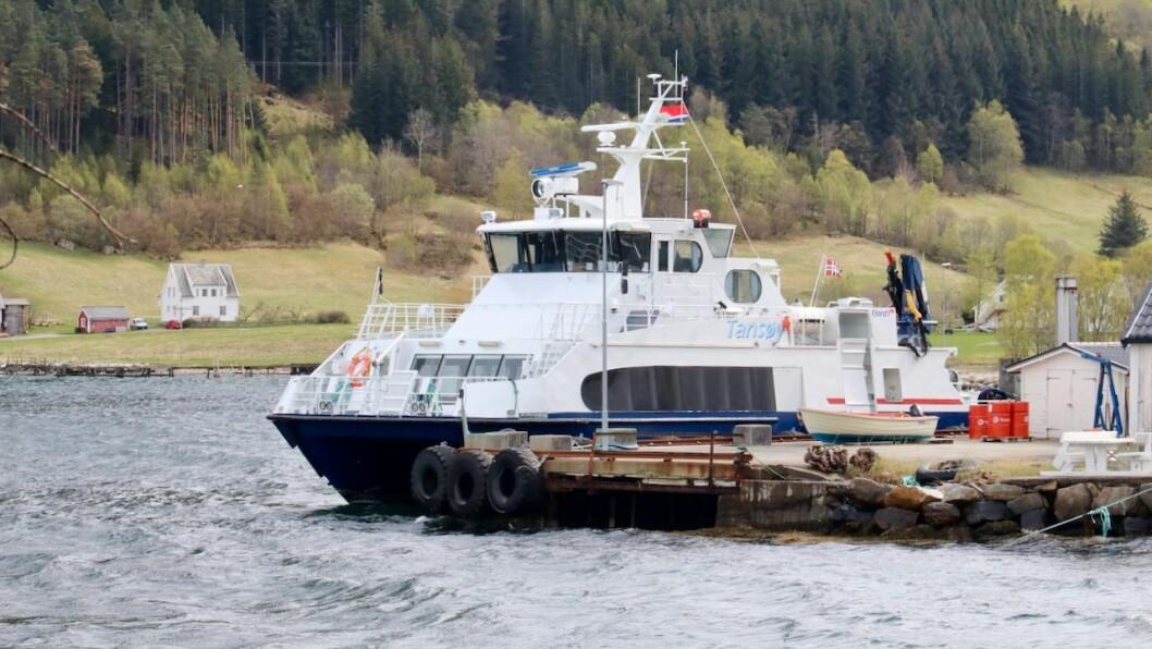 SLUTT: Det vert slutt for konvensjonelle båtar som MF Tansøy på sambandet mellom Vik og Ortnevik etter 2024.