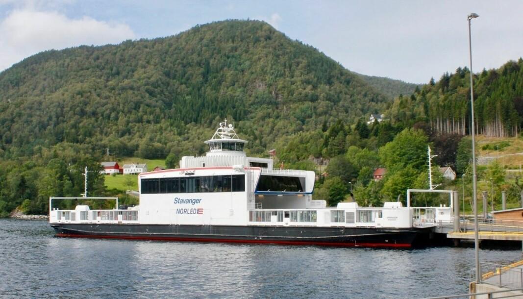 STOPP: Det er full stans på ferga M/F Stavanger på sambandet Lavik - Oppedal.