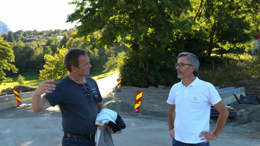 PLANLEGGER: Helge Dyrrdal og Ole-Kristian Hess-Haga har store planar saman.