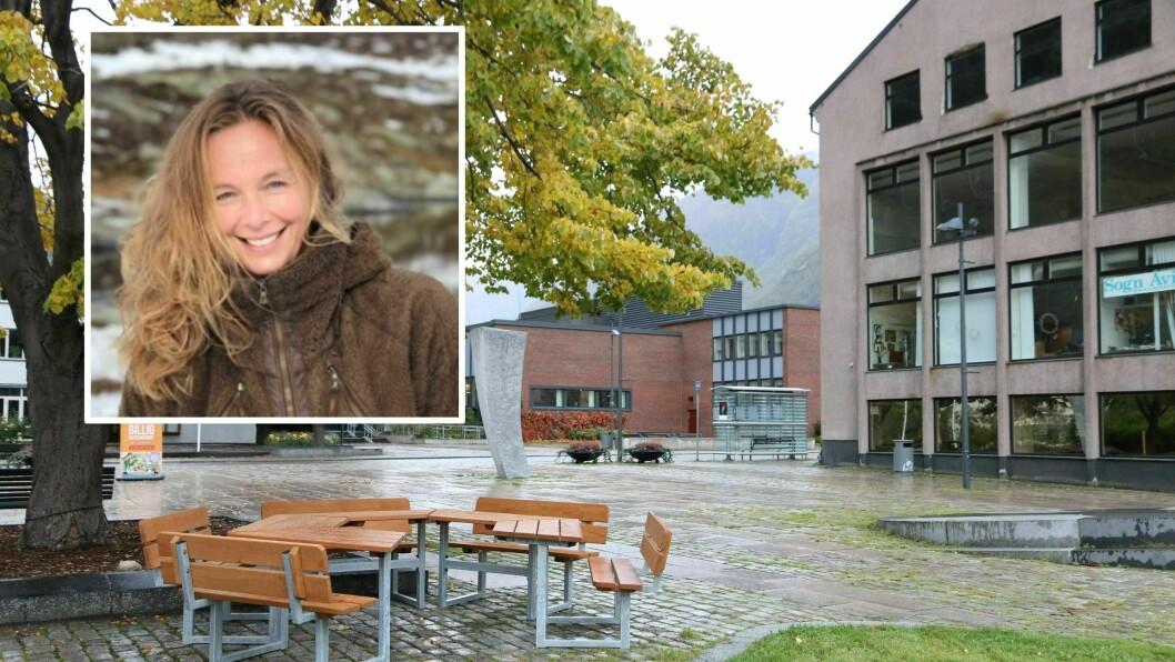 AUKA AKTIVITET: Rådgjevar Stine Grøttebø i Årdal Utvikling oppmodar lokale verksemder om å søka koronastøtte.