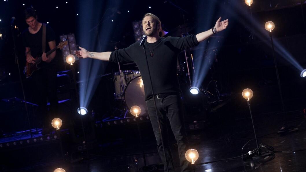 GAV ALT: Odd Einar Nordheim er éin av seks artistar att i musikktevlinga Stjernekamp på NRK. Laurdag framførde han Eggum-visa En natt forbi.