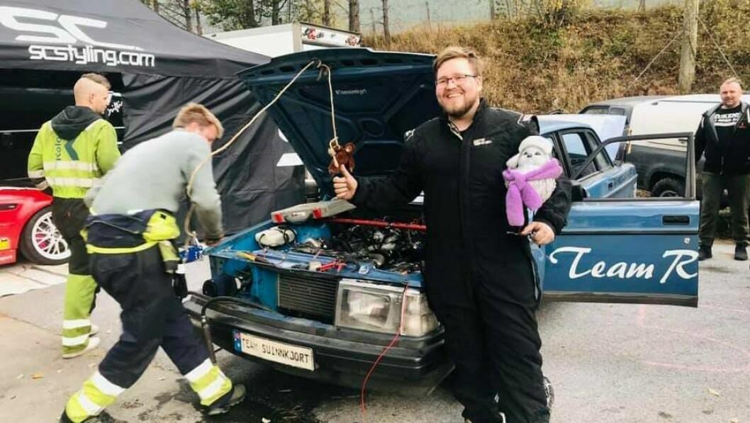 DRIFTWEEKEND: Nico J Åland har reist heilt frå Finnsnes for å vera med på Kaupanger Driftweekend.