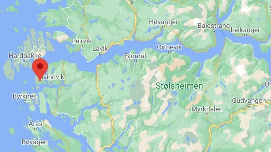 ULYKKA: Ulykka skjedde ved Hisarøyna i Gulen 25. september.
