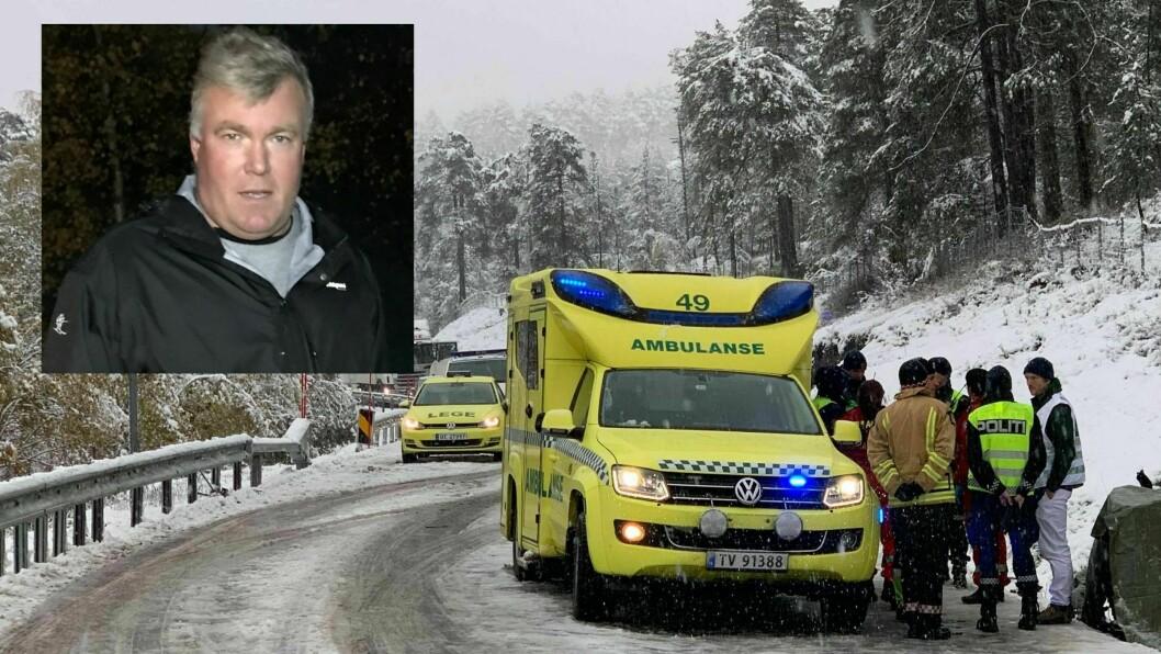 MØTEULUKKE: Ordføraren Ivar Kvalen i Luster seier at ulukka pregar heile kommunen.