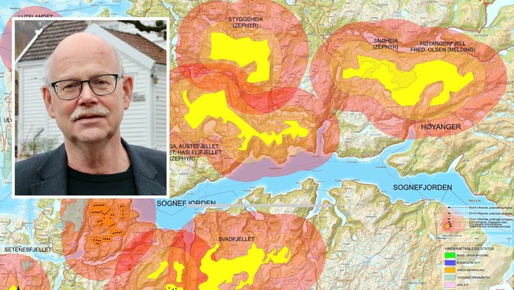 UROA: Nestleiar i Motvind Sunnfjord og Ytre Sogn, Einar Rysjedal, er uroa for dei mange vindkraftplanane som utbyggjarselskap har i Høyanger kommune.