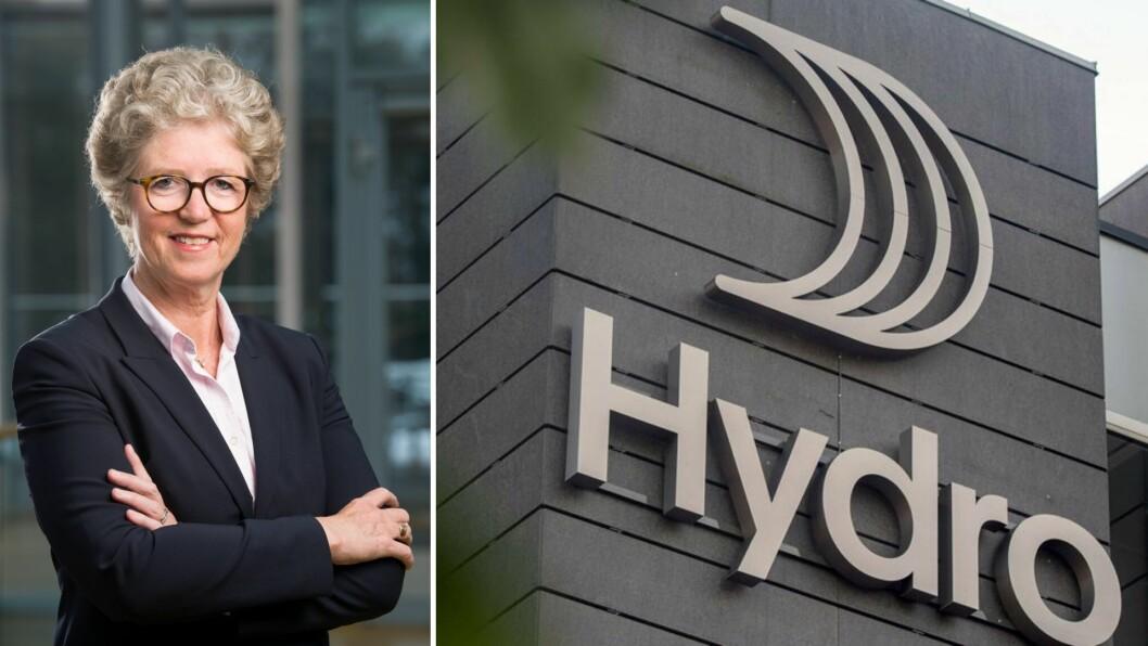 IMPONERT: Konsernsjef Hilde Merete Aasheim rosar Hydro sitt arbeide i eit vanskeleg koronaår.