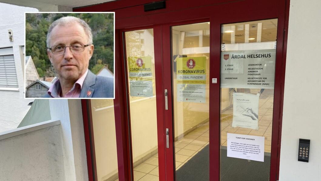 SNART TOMT: Årdal kommune er snart tomme for influensavaksine.
