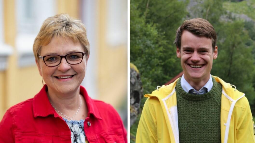 KRF: Nominasjonskomiteen føreslår Tore Storehaug (t.h) og Trude Brosvik (t.v) på topp på stortingslista til KrF i Sogn og Fjordane.