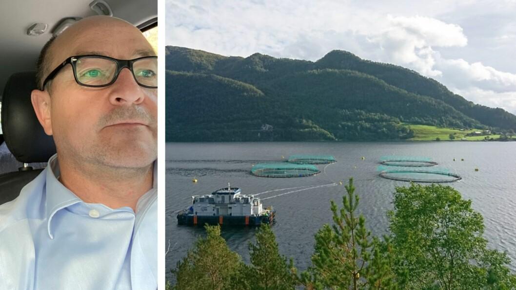 OPPDRETT: Tor-Arne Helle er leiar for miljø og samfunn i Tombre.