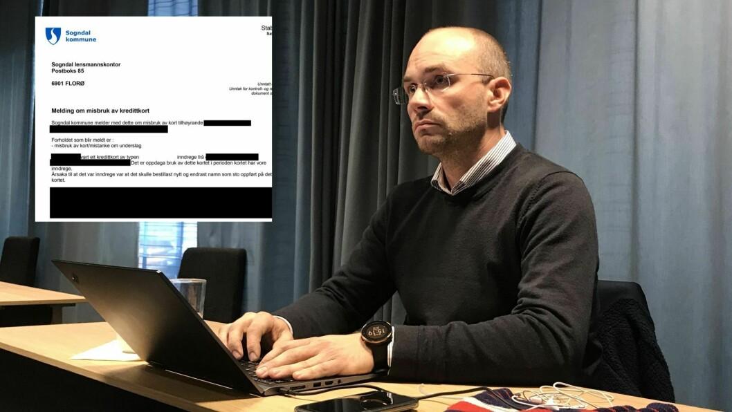 POLITIMELDE UNDERSLAG: Kommunalsjef Tor-Einar Skinlo informerte politikarane om politimeldinga (innfelt) før helga.