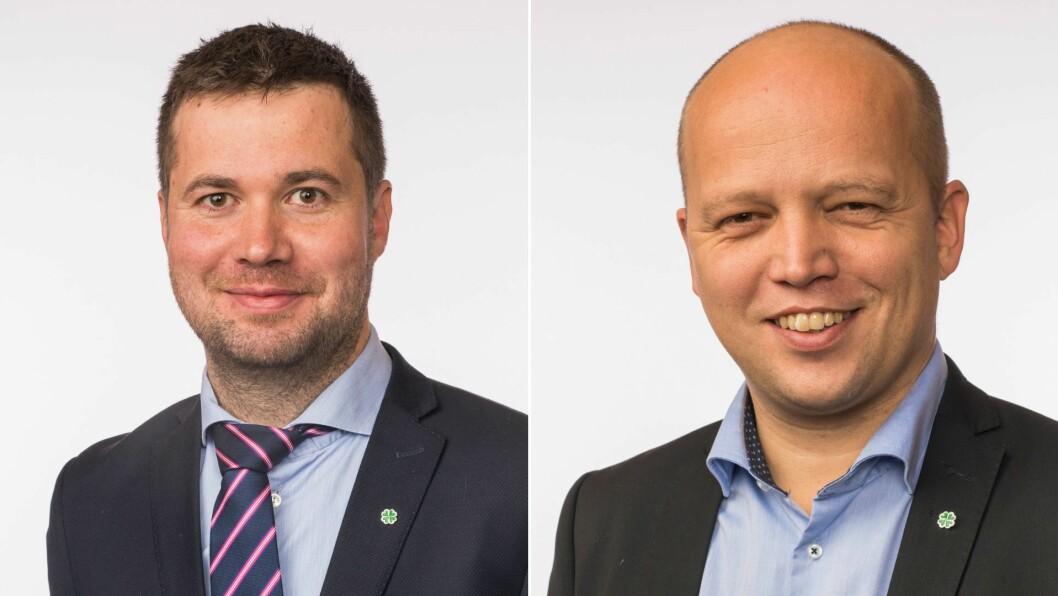 VIL HA ENDRINGAR: Leder for Stortingets næringskomite, Geir Pollestad og leder for Senterpartiet, Trygve Slagsvold Vedum.