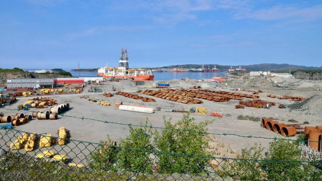 FØRETAK: Gulen industrihamn AS er eitt av dei nye føretaka den siste tida og skal blant anna utvikle næringsareal. Biletet er frå industrihamna i Sløvåg.