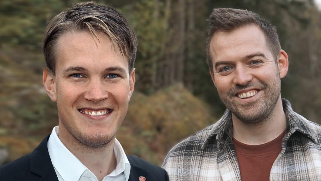 SAMSTEMD DUO: Stortingsrepresentant Torstein Tvedt Solberg og fylkestingsrepresentant Torbjørn Vereide.