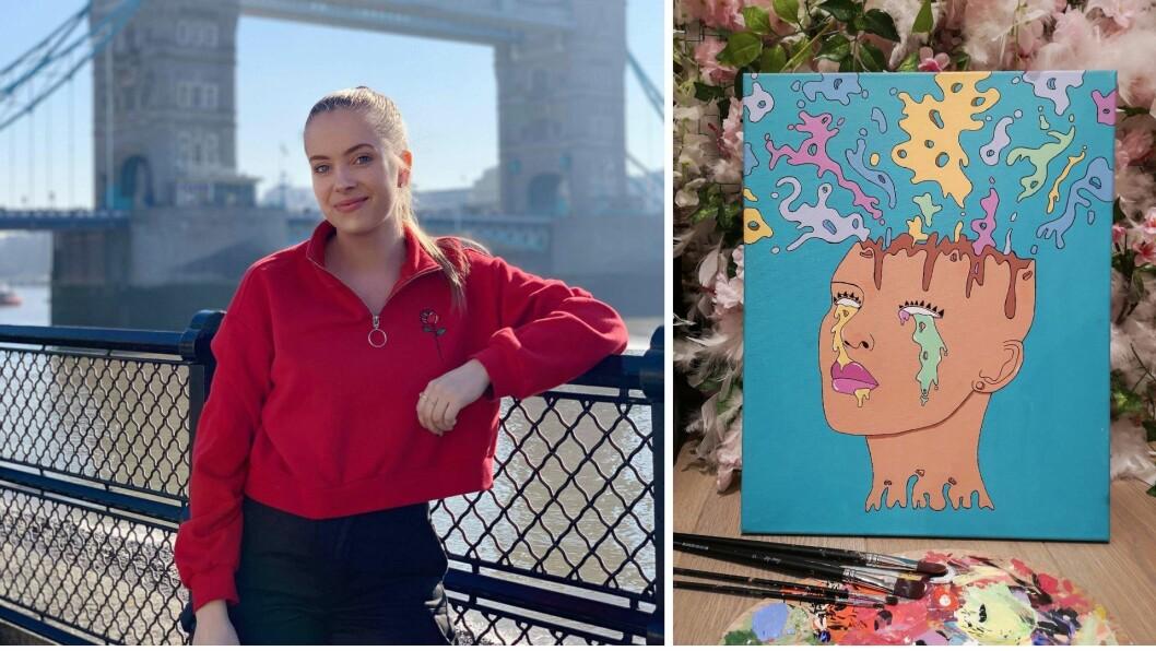 KReATIV: Frida Skoglie er ei kreativ sjel. Det hjalp på når ho vart arbeidsledig for andre gong.
