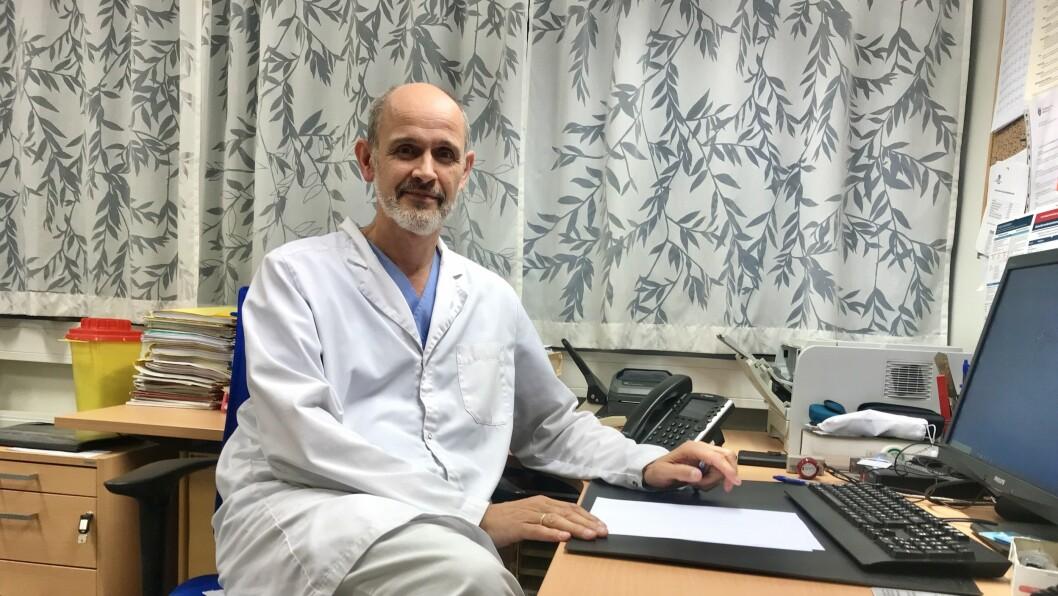 SMITTETILFELLE: Leiv Erik Husabø kunne fortelje om eit smittetilfeller på nyttårsaftan.