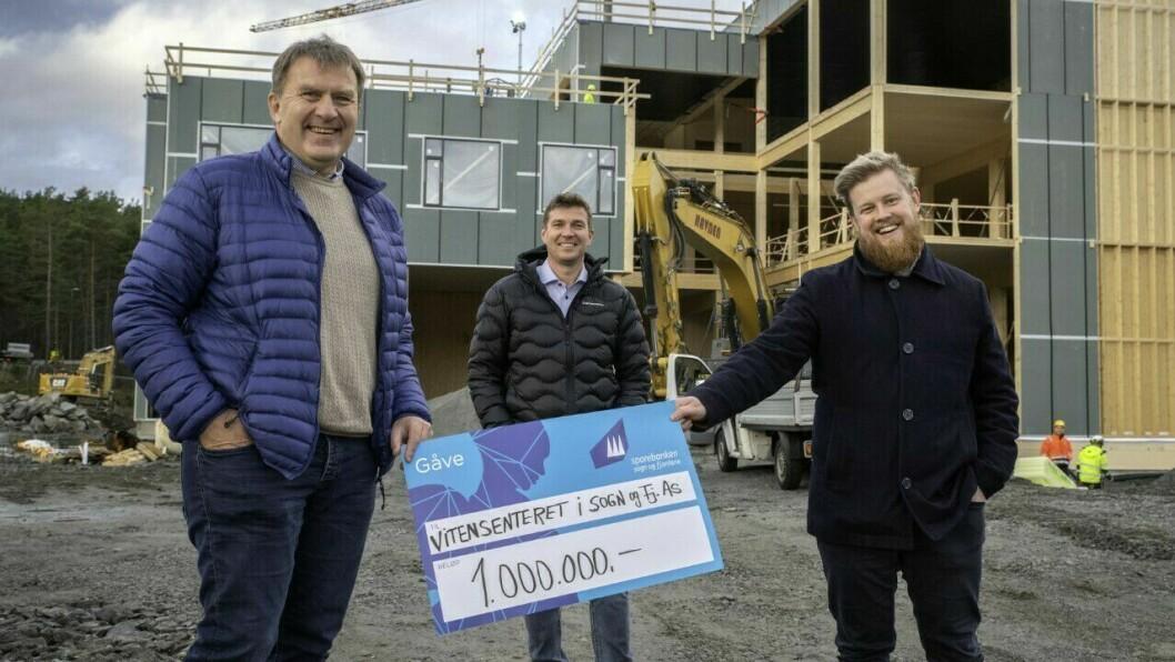 FRÅ VENSTRE: Jan Petter Vadheim, Tor Arne Ness og Erlend Fardal Lunde.