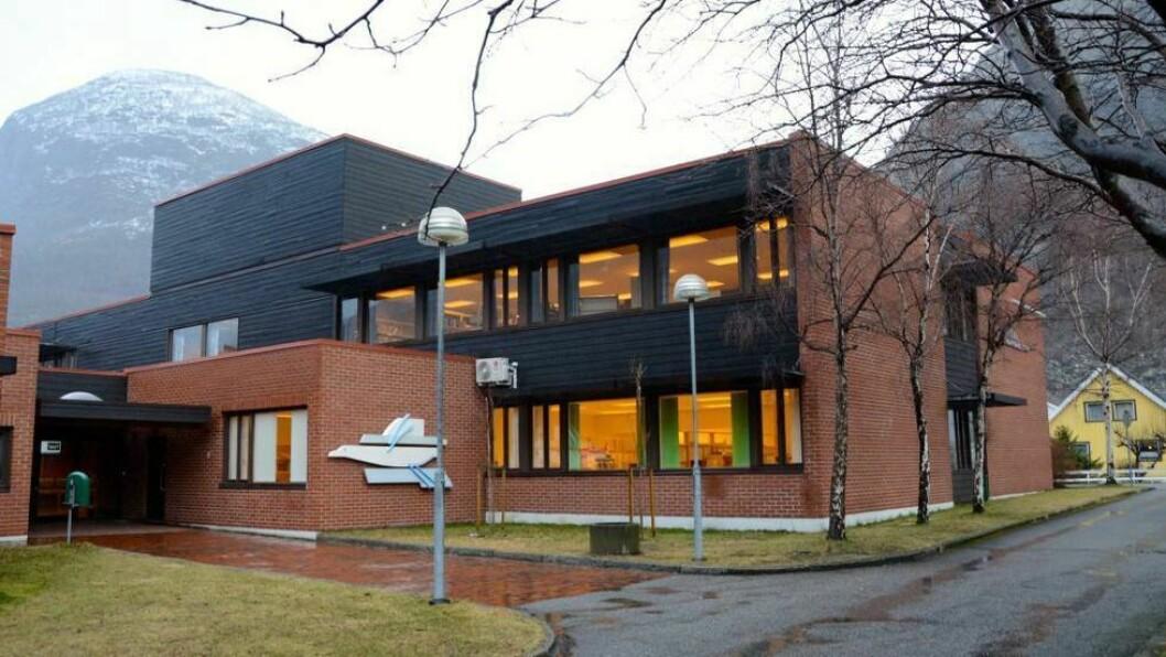 STOD I FARE: Ei av klassane på Årdal videregående stod i fare for å bli nedlagt.