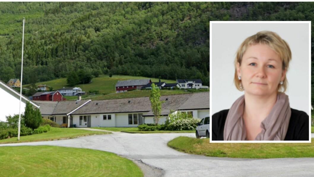 BEKYMRA: Monica Dåvøy på Søreide bygdetun er bekymra for konsekvensane av rasutsette vegar på sørside.