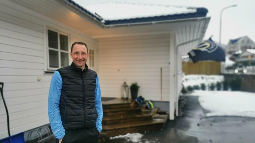 NØGD: Ein smilande Terje Skjeldestad er tilbake etter det overraskande resultatet i Austerrike. Det norske