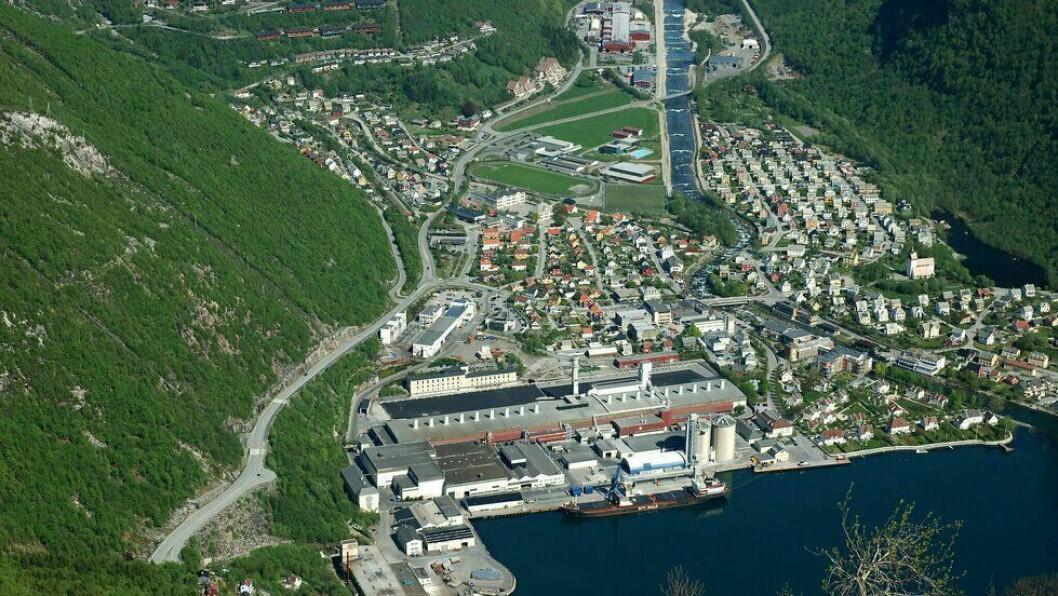 NÆRING: Høyanger er ein av kommunane som er inkludert på denne næringsloggen frå Ytre Sogn.