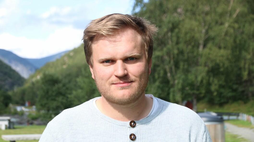 VANN FRAM: Aleksander Øren Heen var i Loen saman med resten av Senterpartiet sine representantar under landsmøtet.