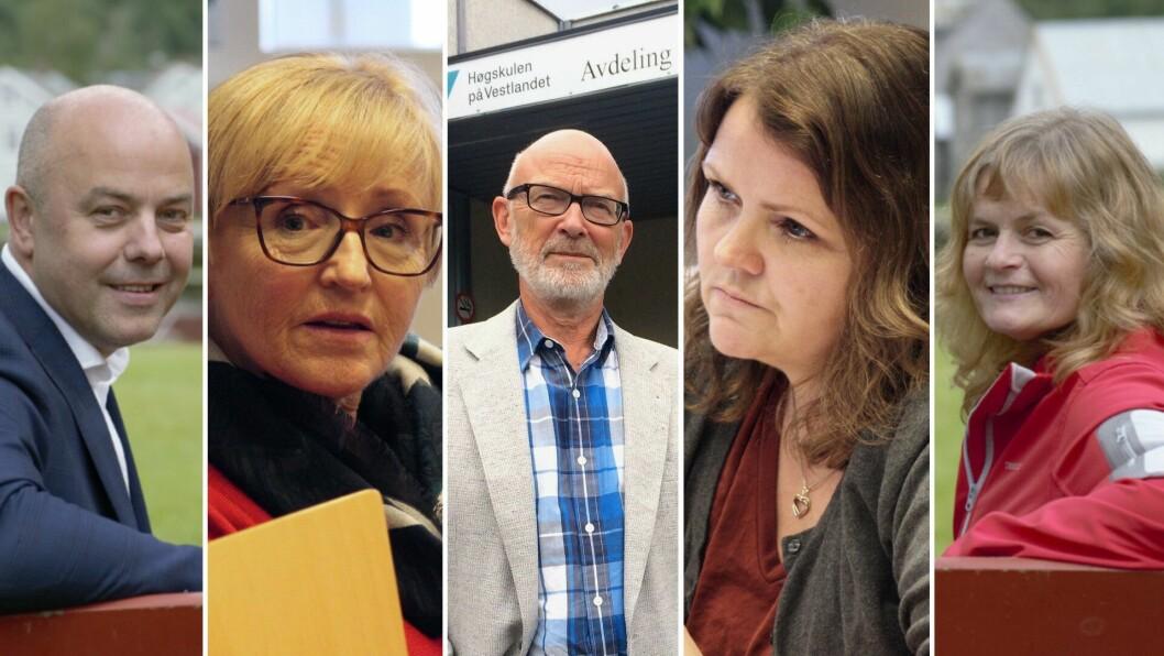 FORMANNSKAPET: Frå venstre, ordførar Audun Mo (Ap), Liv Signe Navarsete (Sp), varaordførar Jan Olav Fretland (Sv), Kathrine Mari Njåstad Blaaflat (H), og Janne Marie Reppen (Ap)