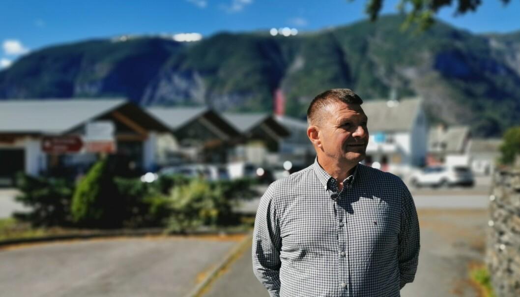 GLAD: – Me er utruleg glade for at dei er interesserte i Aurland som eit alternativ, seier ordførar i Aurland kommune, Trygve Skjerdal.