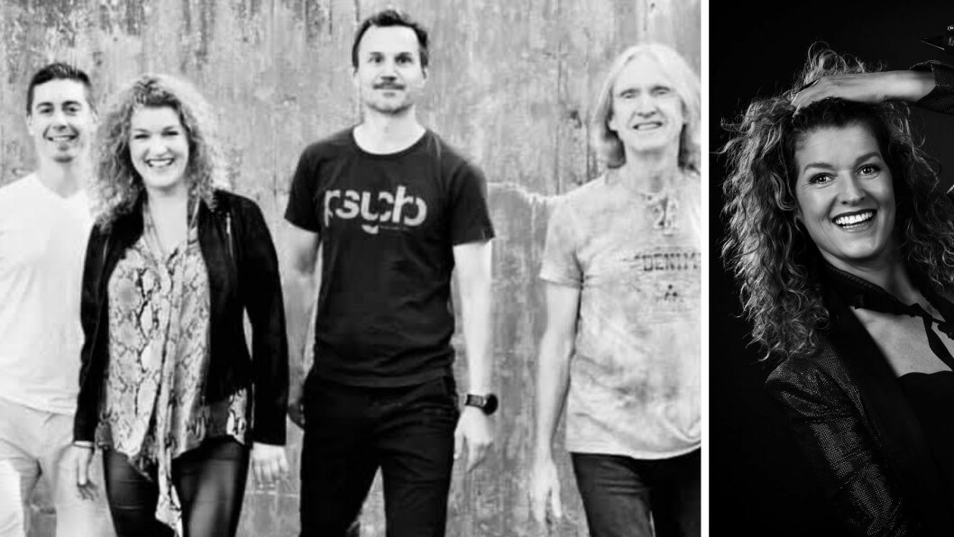 BANDET: Frå venstre - trommis Mikael Chauvet Jørgensen, vokal og saksofon Anita Nordheim, bassist Peter Sæverud og gitarist Tore Kvalvik.
