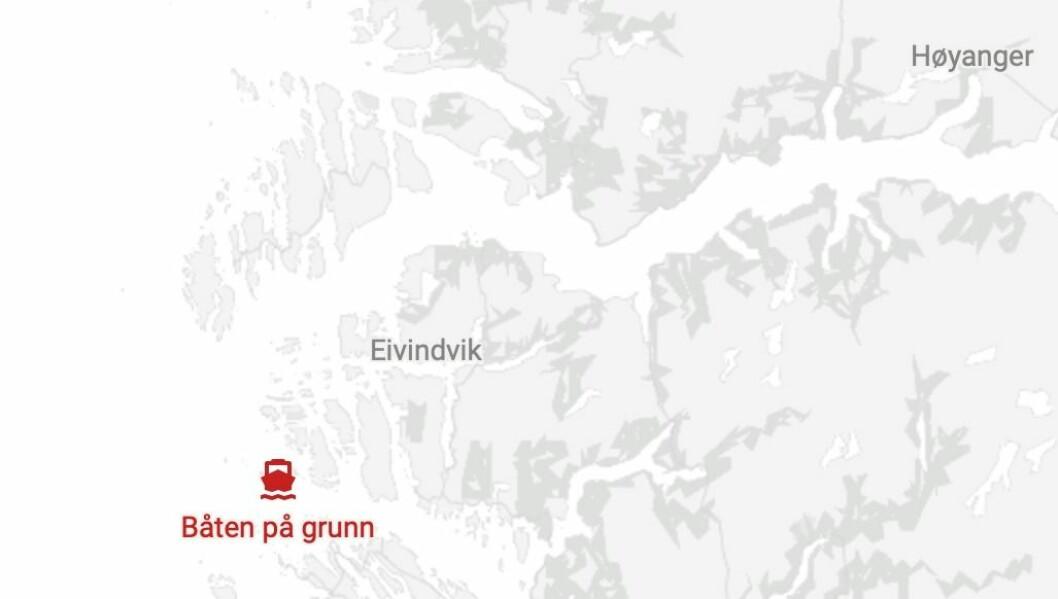 PÅ GRUNN: Hendinga skal ha skjedd rett aust for øya Røytinga.