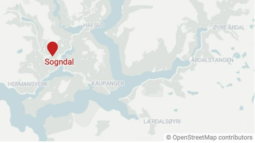 SOGNDAL: Hendinga skal ha skjedd klokka ti over halv eitt i Sogndal