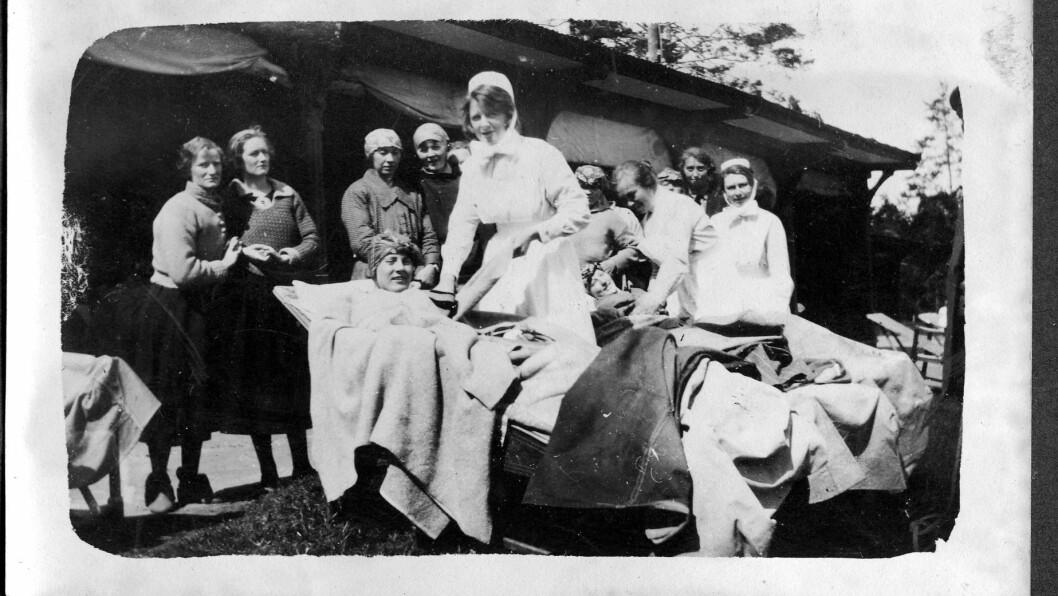 HJELP: Sanitetskvinnene stifta tuberkuloseheimar fleire stader for å kunne avlaste familiane til dei som var sjuke. Biletet er frå ein slik heim.