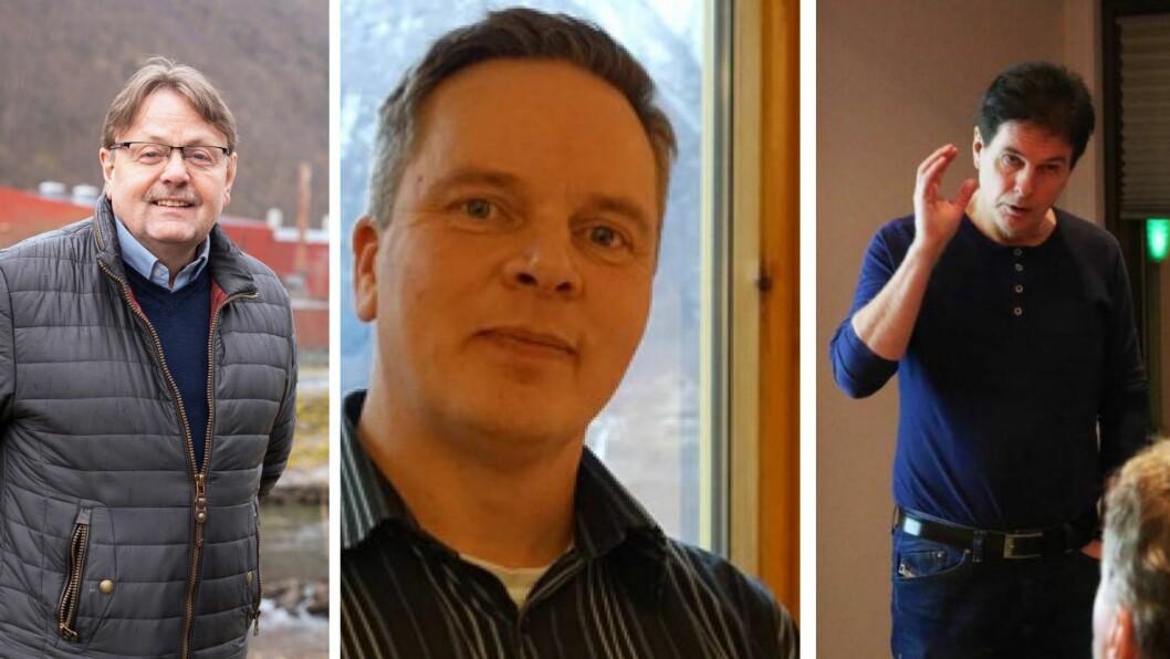 NÆRINGSJEFANE: Terje Søreide, Inge Håvard Aarskog og Terje Laberg var alle næringssjefar i 2019