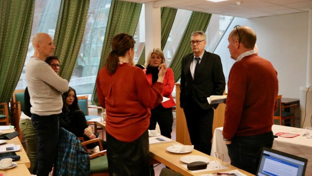 FORSLAG: Høyanger Arbeidarparti føreslo å gje meir pengar til Høyanger næringsutvikling i 2021. Ordførar Petter Sortland var ugild i saka og deltok ikkje i sakshandsaminga. Biletet av partigruppa er teke ved eit anna høve.