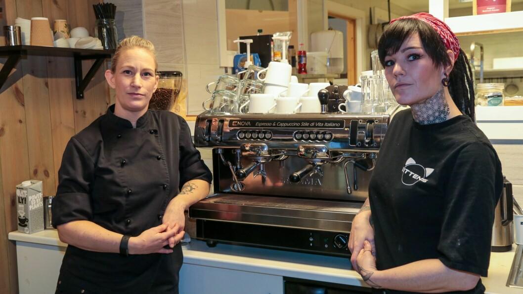 KAFFETELEGRAFEN: Kaffimaskina er forøvrig eit høgdepunkt for dei, og noko dei er stolte av.