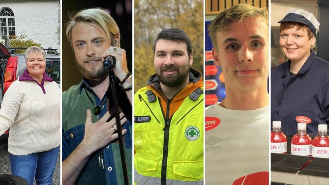 NOMINERTE: Monica Finden, Odd Einar Nordheim, Norsk Folkehjelp Årdal, Sivert Mannsverk og Trine LErum.