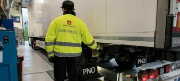 Det utanlandske vogntoget kom køyrande med norsk last. Då vart selskapet meldt til politiet