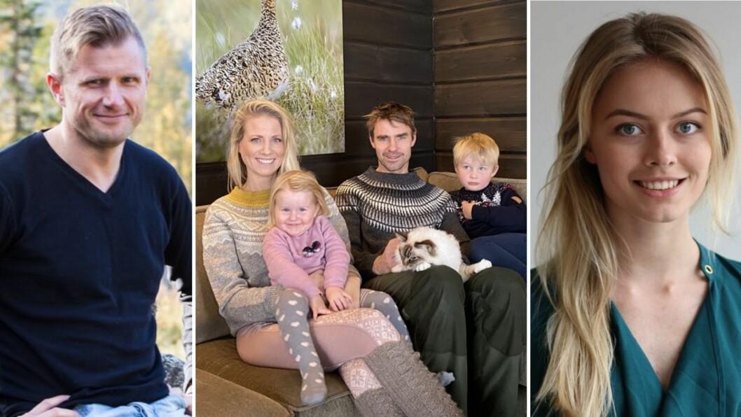 FRÅ VENSTRE: Arve Uglum, Benedicte Elisabeth Stedje, Jon Olav Stedje saman med ungane, og Synne Asheim Haga.