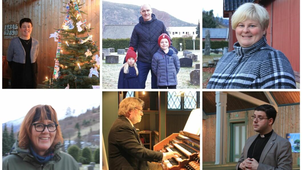 ALTERNATIV GUDSTENESTE: Fleire tok seg turen på vandring gjennom kyrkja. Organisten spelte julemusikk og presten og kyrkjetenar leia folk gjennom kyrkja.