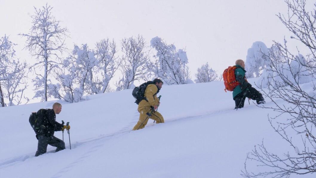 Filmen er innspelt i blant anna skisenteret i Hodlekve, Heggmyrane, og forskjellige toppturar i Sogn. Her er Lars Kvisgaard Melby, Daniel Furberg, og Gustaf Rydén i Hodlekveskogen.