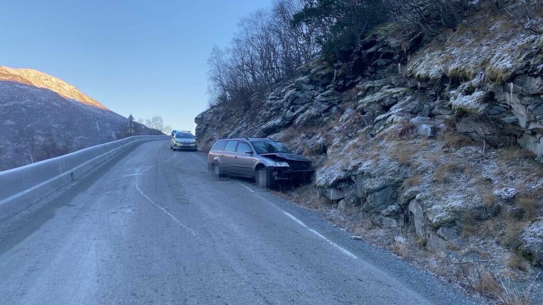 HER: Ulykka skjedde ved jåteli i Årdal.
