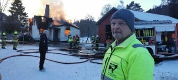 Sverre oppdaga brannen: – Nifst å sjå