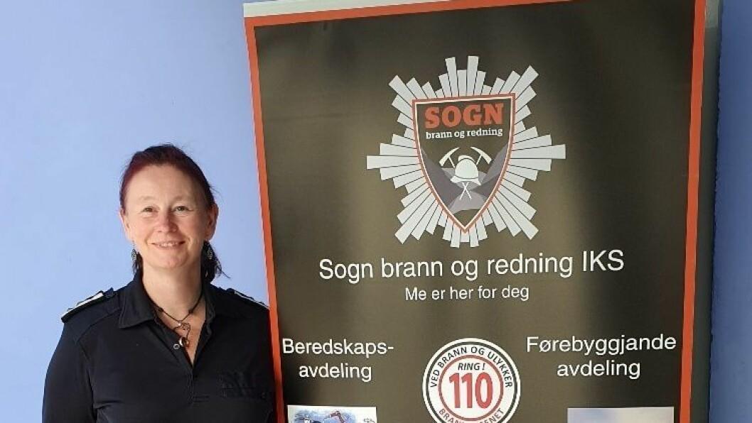 LEIAR: Torill Anita Segtan er leiar på førebyggande avdeling i Sogn brann og redning.